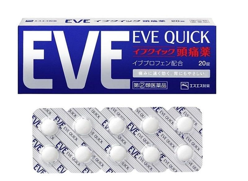 Bạn có thể dễ dàng tìm mua thuốc đau đầu của Nhật Eve trên thị trường