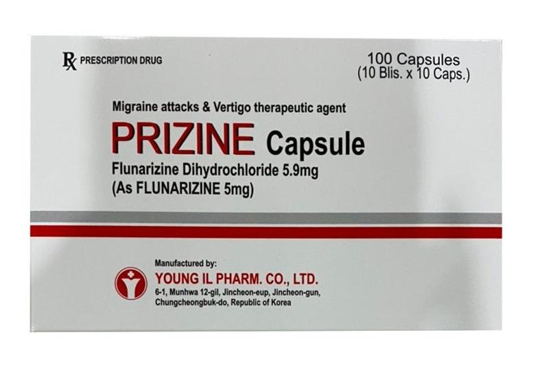 Prizine Capsule được dùng để đặc trị tình trạng đau nửa đầu