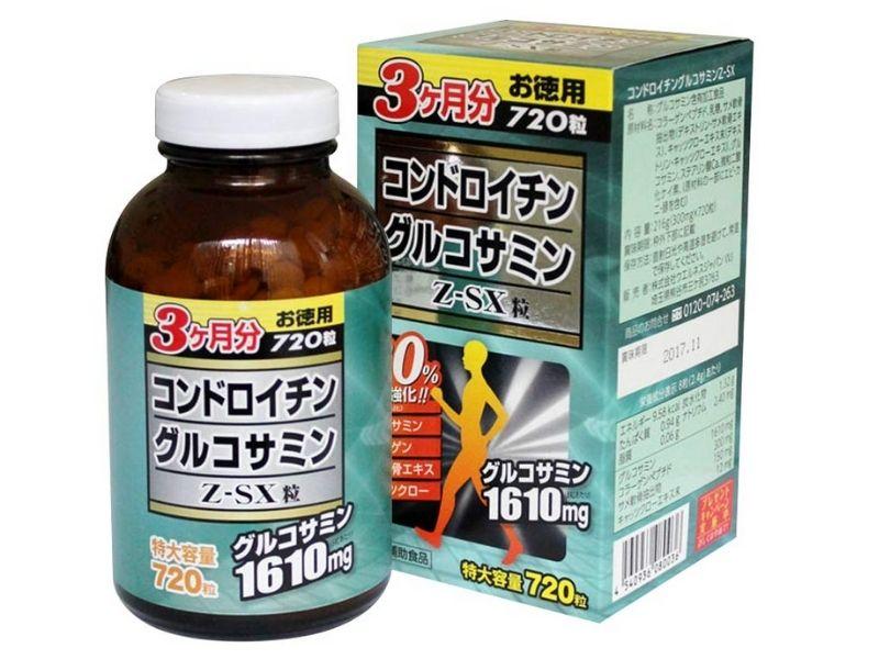 Sản phẩm Jpanwell Glucosamine Chondroitin Z-SX