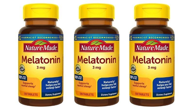 Nature Made Melatonin 3mg cải thiện giấc ngủ