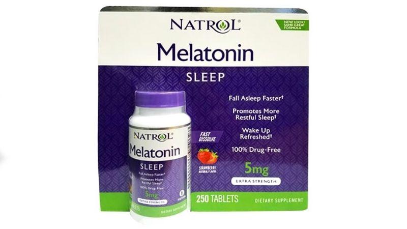 Viên uống hỗ trợ trị mất ngủ của Mỹ Natrol Melatonin Sleep