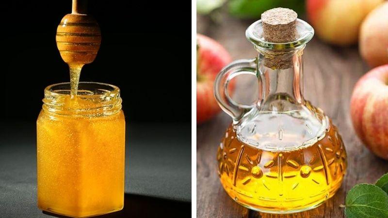 Công thức mật ong và giấm táo cũng cho hiệu quả rất tốt