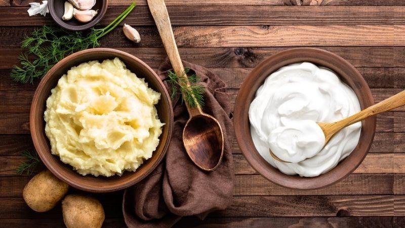 Khoai tây và sữa chua được nhiều người lựa chọn sử dụng