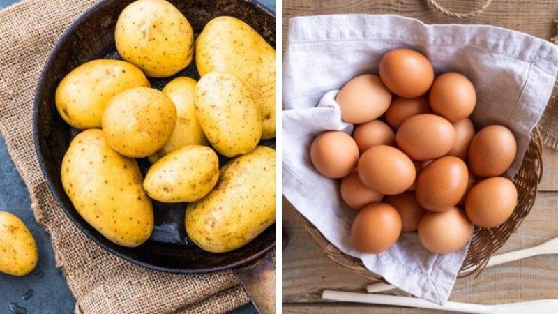 Kết hợp khoai tây với trứng gà và mật ong