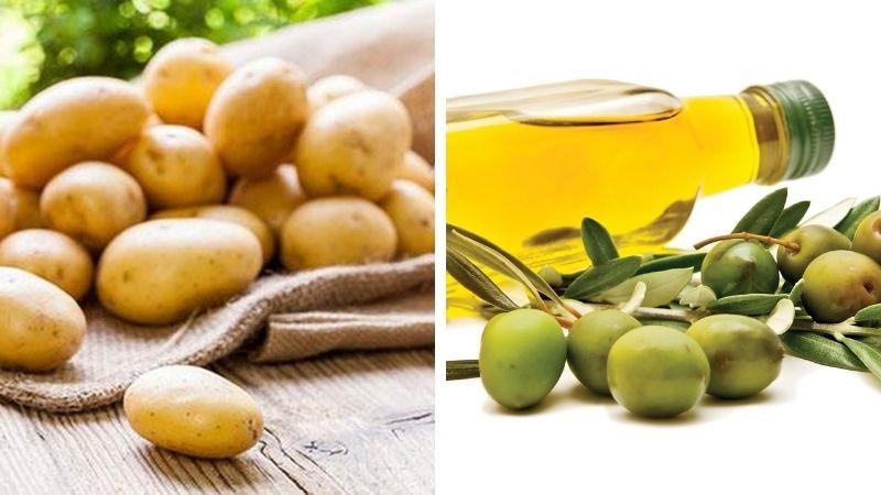 Cách sử dụng khoai tây với dầu oliu