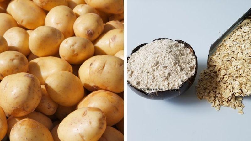 Xóa sạch tàn nhang bằng khoai tây và yến mạch