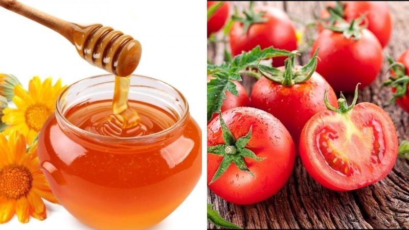 Trị mụn thâm bằng mật ong và cà chua
