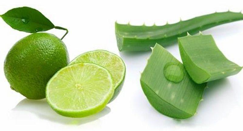 Sử dụng nước cốt chanh với nha đam mang lại hiệu quả trong việc làm trắng sáng da và bảo vệ da rất tốt