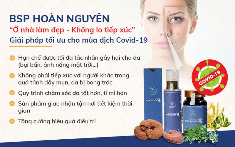Viện Da liễu Hà Nội - Sài Gòn khuyến khích khách hàng khắc phục mụn tại nhà để đảm bảo an toàn trong mùa dịch bệnh