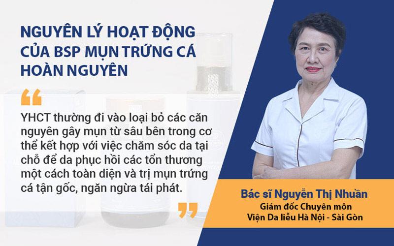 Bộ sản phẩm Mụn trứng cá Hoàn Nguyên hoạt động theo nguyên lý của YHCT