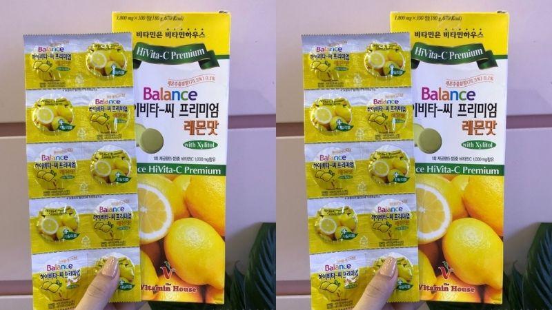 Viên ngậm vitamin C Hàn Quốc Balance