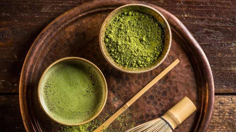 Cách làm trắng da cổ bằng bột trà xanh