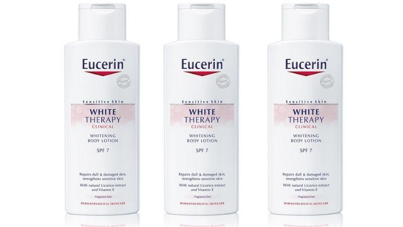 Eucerin White Therapy Body Lotion SPF 7 là kem dưỡng trắng da body rất tốt