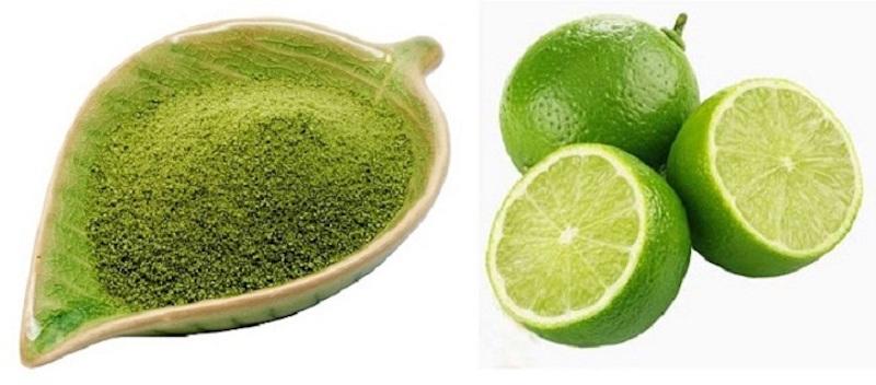 Kết hợp chanh và bột trà xanh
