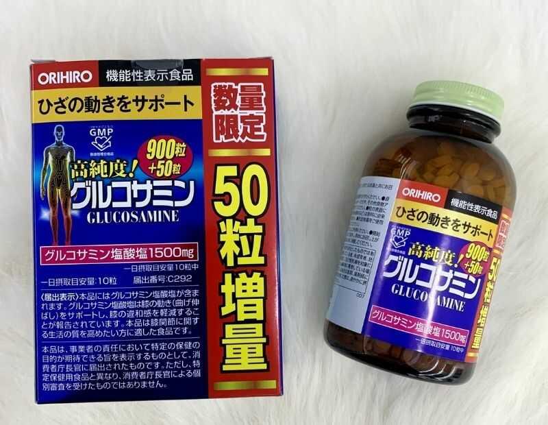 Thực phẩm chức năng Glucosamine Orihiro 1500mg giúp cải thiện nhanh chóng các triệu chứng bệnh