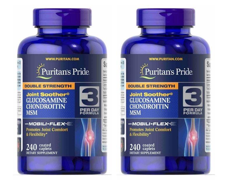 Double Strength Glucosamine Chondroitin & MSM Joint Soother hỗ trợ điều trị bệnh xương khớp