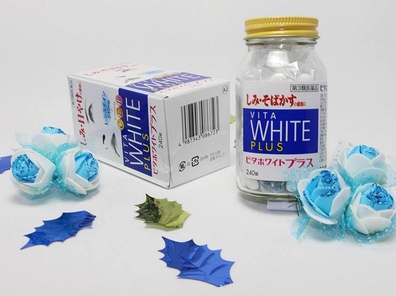 Vita White Plus cũng là một sản phẩm hỗ trợ giảm các đốm tàn nhang và vết nám trên da của Nhật Bản