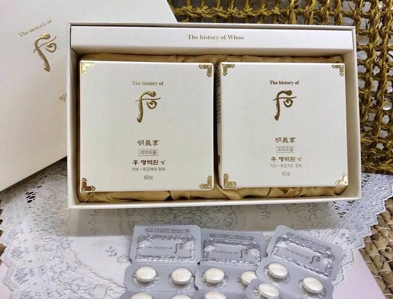 WHOO là viên uống cải thiện tàn nhang và nám của Hàn Quốc