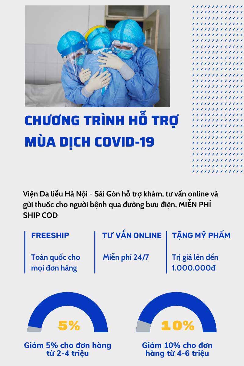 Viện Da liễu Hà Nội - Sài Gòn đẩy mạnh chương trình hỗ trợ mùa dịch trong tháng 8