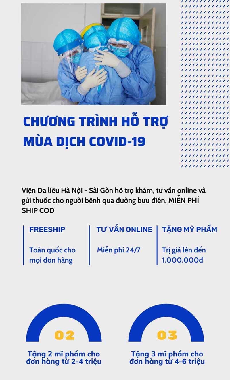 Chương trình hỗ trợ mùa dịch tháng 8 của Viện Da liễu Hà Nội - Sài Gòn