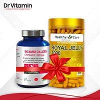 Combo ngừa nám, chống lão hóa Sữa ong chúa Healthy Care Royal Jelly và Viên uống Bio Marine Collagen