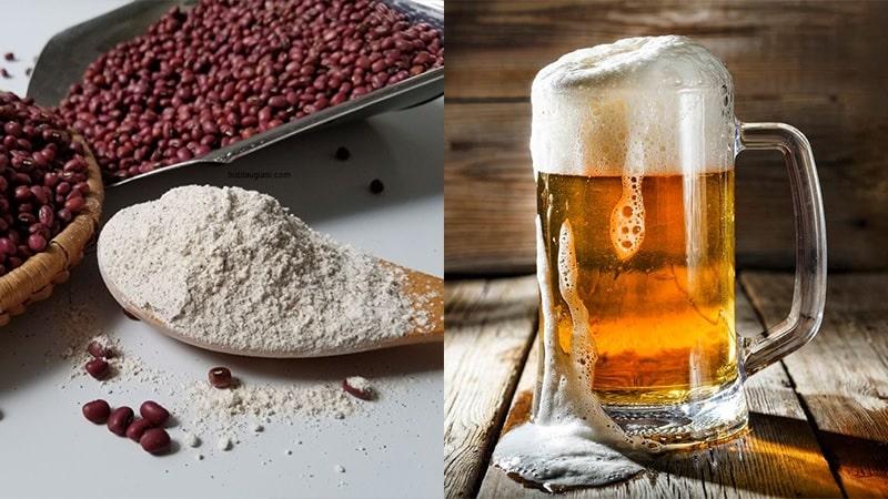 Trong men bia có hàm lượng vitamin B rất cao có thể giúp tắm trắng