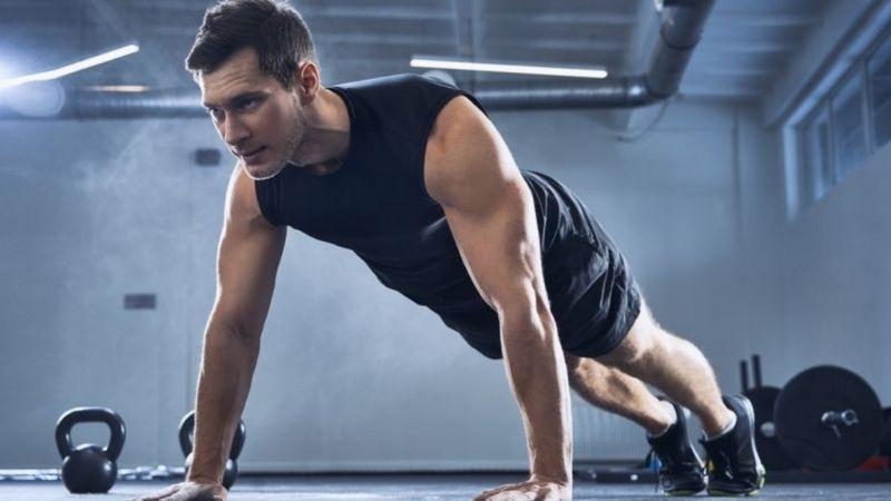 Các bài tập thể hình là cách tăng cân cho nam rất tốt