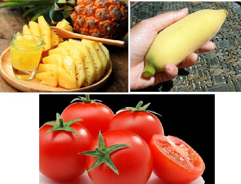 Hỗn hợp chuối, dứa, cà chua giúp đánh bay mỡ thừa