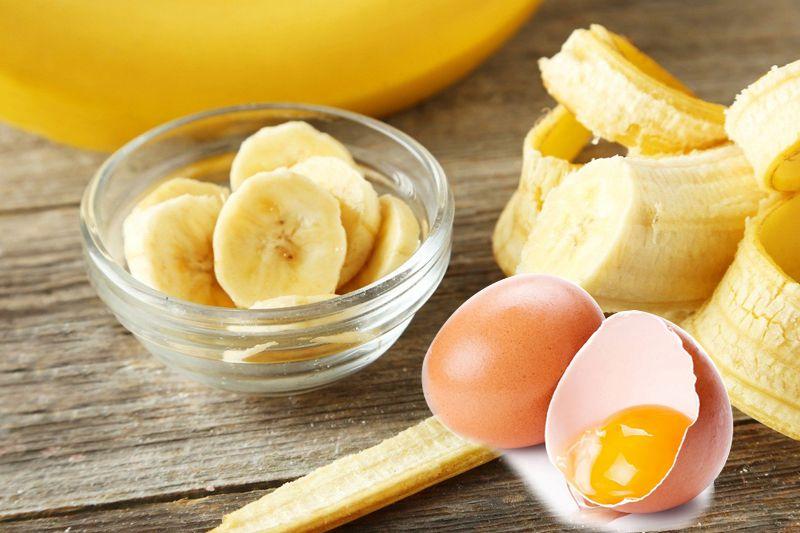 Chuối kết hợp với trứng gà