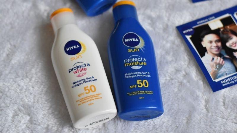 Bạn có thể tham khảo dòng Nivea Sun Protect & Moisture SPF 50 PA++