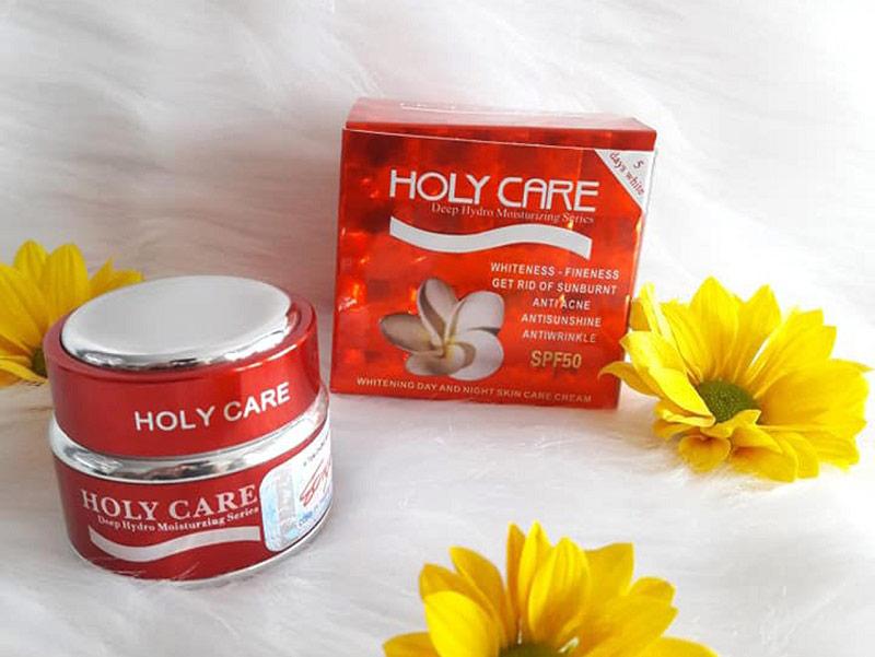 Holy Care mang đến dòng kem dưỡng trắng và tái tạo da chất lượng cao