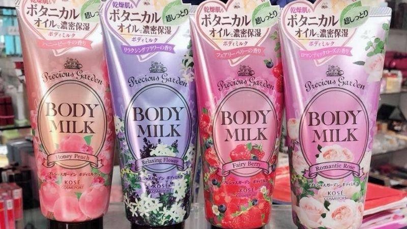 Kem dưỡng trắng da toàn thân của Nhật Kose Body Milk