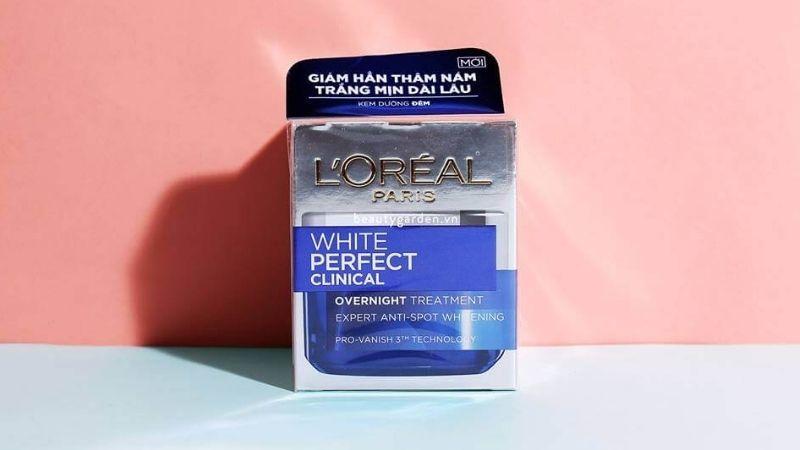 Kem trắng da tốt nhất hiện nay L'oreal White Perfect Clinical