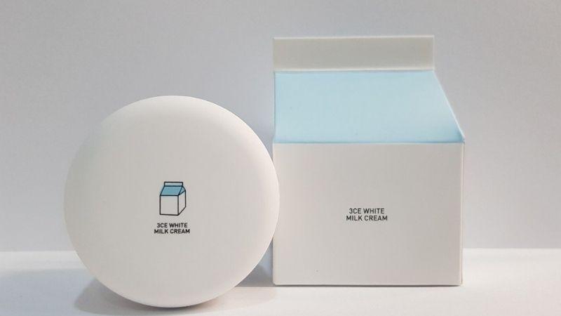 3CE White Milk Cream cũng là sự lựa chọn rất tốt cho các chị em