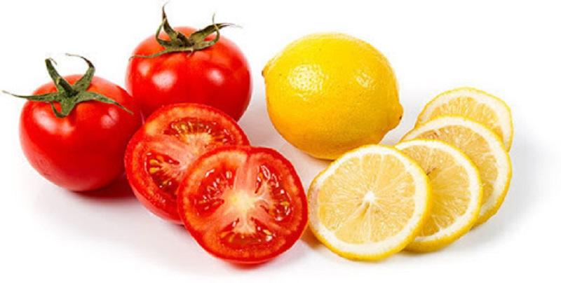 Làm trắng da bằng cà chua kết hợp chanh