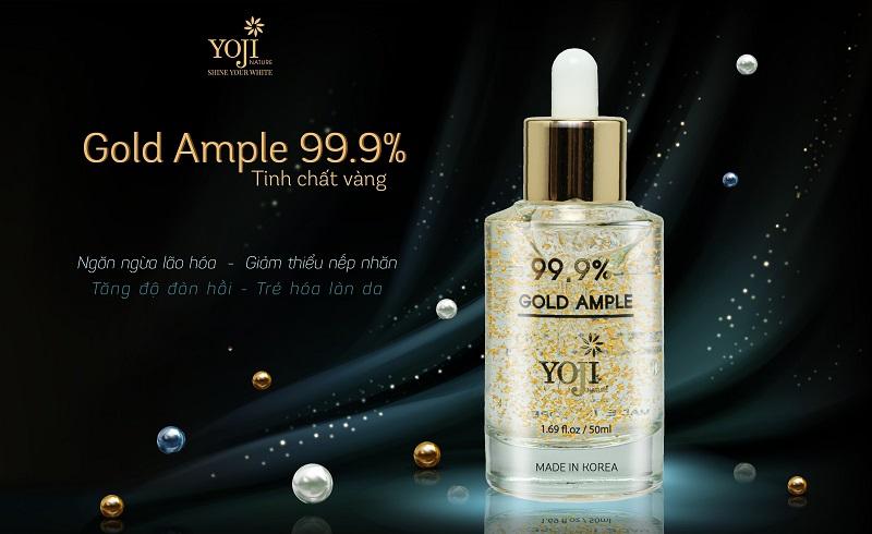 Gold Ampoule 99.9% – YOJI Nature - Serum trị thâm trắng da