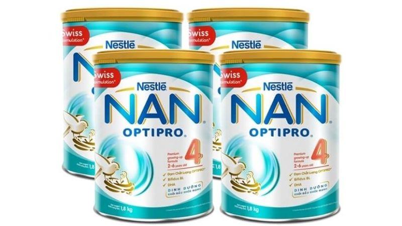 Nestlé NAN OPTIPRO 4 cũng rất nổi tiếng trên thị trường sữa hiện nay