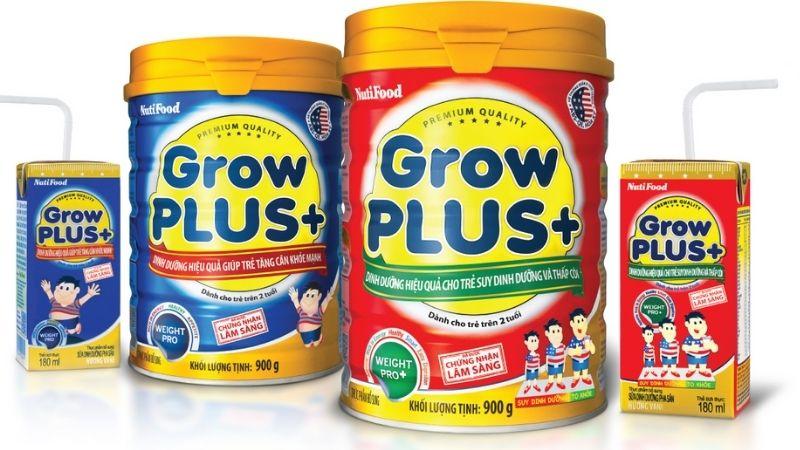 Nutifood Grow Plus thuộc top sữa cho đối tượng trẻ còi xương bán chạy nhất