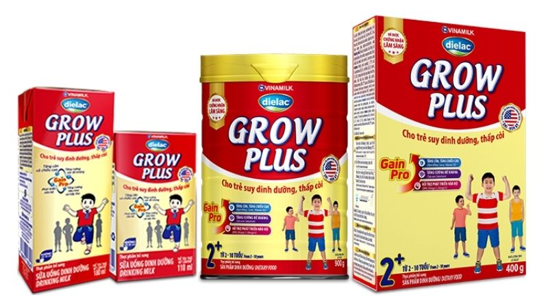 Dielac Grow Plus có khá nhiều sản phẩm cho từng độ tuổi khác nhau