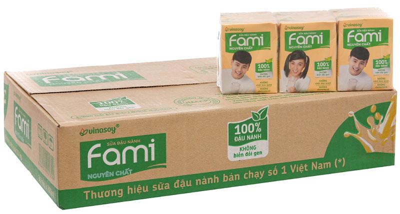 Sữa đậu nành Fami có thể dùng cho mọi đối tượng