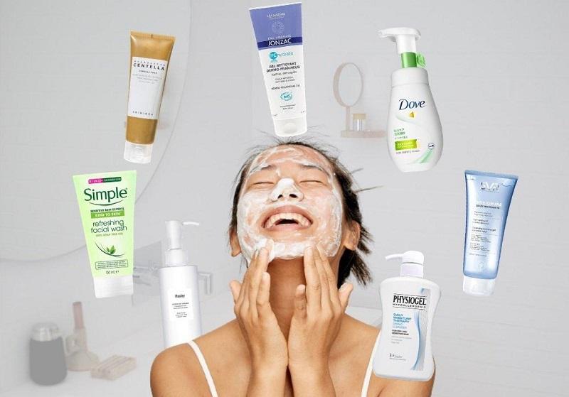 Chọn sữa rửa mặt cần phù hợp loại da của bạn