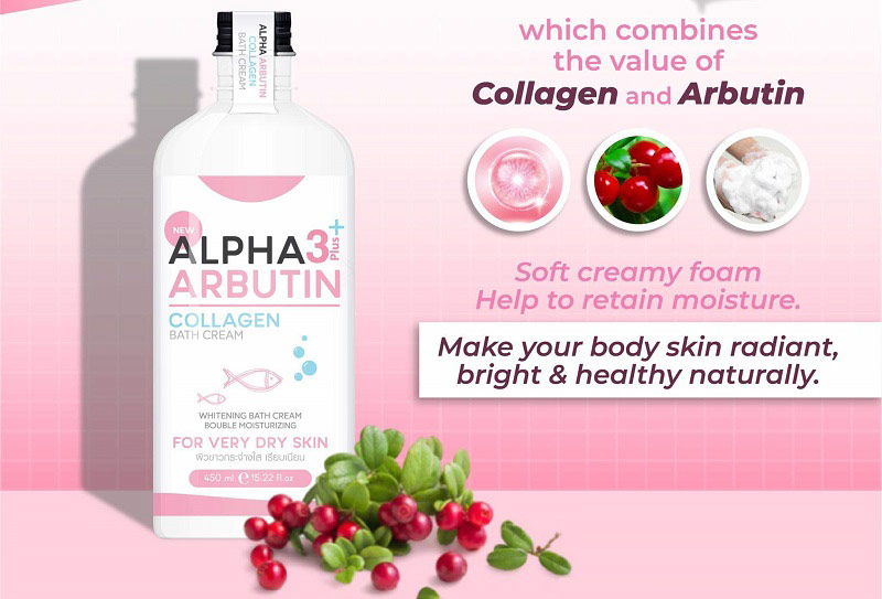 Alpha Arbutin 3+ Plus Collagen Bath Cream - Sản phẩm bán chạy số 1 Thái Lan