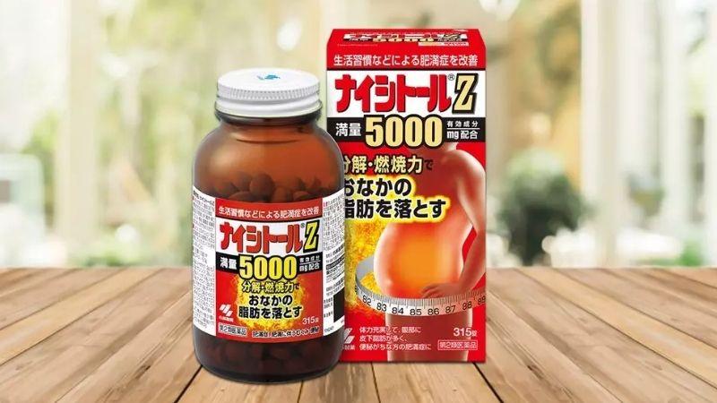 Kobayashi Naishituro Z5000 giảm hấp thụ chất béo và tăng cường chuyển hóa mỡ thừa
