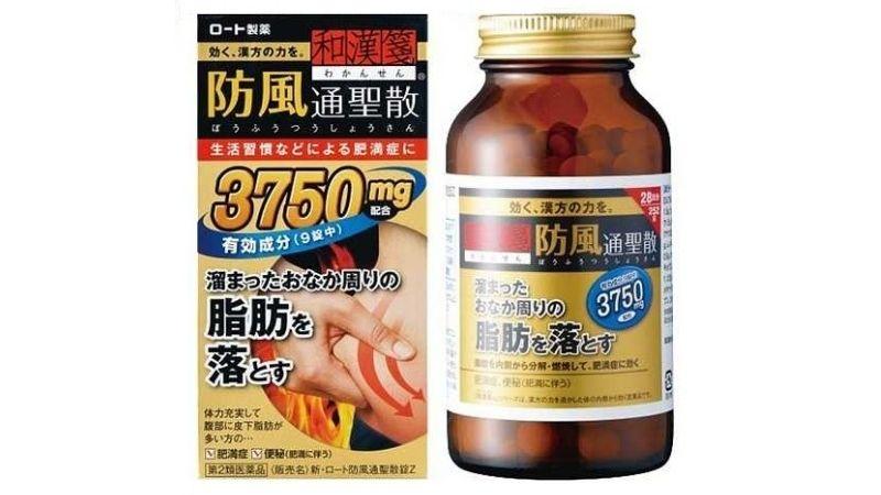 Rohto 3750 giảm cân tốt nhờ các thành phần tự nhiên
