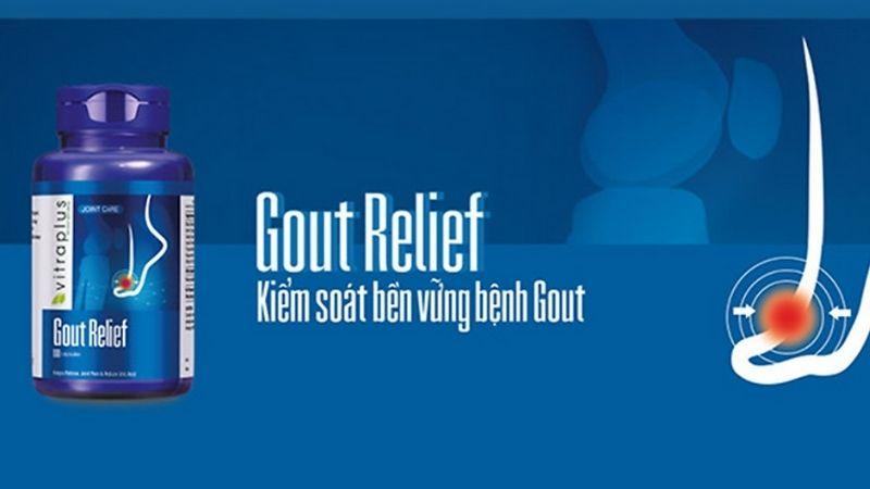 Người bệnh có thể sử dụng VitraPlus Gout Relief để giảm cơn đau và ngăn chặn tái phát gout