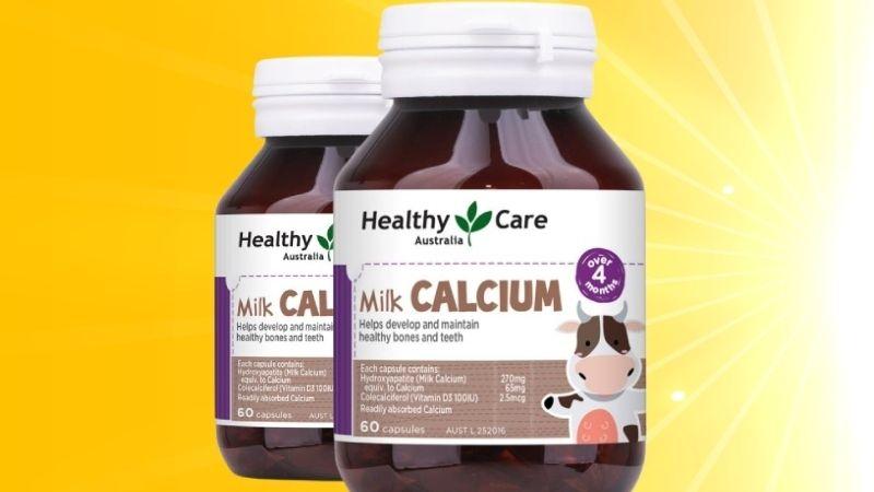 Thực phẩm chức năng Healthy Care Milk Calcium được nhiều người đánh giá cao