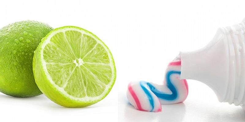 Bạn có thể sử dụng nước cốt chanh và kem đánh răng để trị mụn ẩn