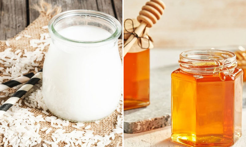 Dùng mật ong kết hợp cùng nước vo gạo