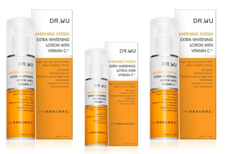 Extra whitening lotion with vitamin C+ cũng là một sản phẩm nổi bật của Dr. Wu