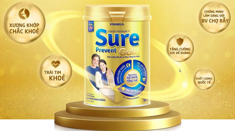 Vinamilk Sure Prevent - Sữa bột đặc chế cho người cao tuổi